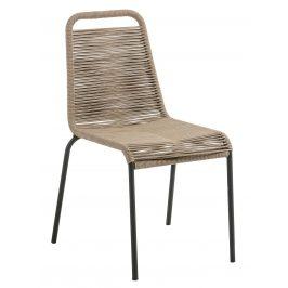 Hnědá ratanová jídelní židle LaForma Glenville