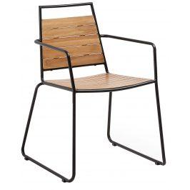 Přírodní dřevěná zahradní židle LaForma Komfort