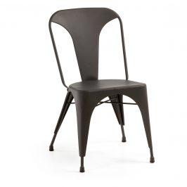Černá kovová jídelní židle LaForma Malibu
