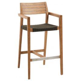 Dřevěná zahradní barová židle LaForma Thor 108 cm