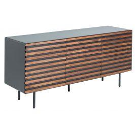 Grafitově černá dřevěná komoda LaForma Mahon 162 x 45 cm