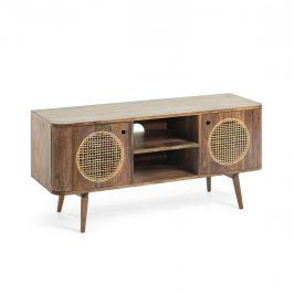Přírodní dřevěný televizní stolek LaForma Geraldine