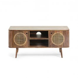 Mangový TV stolek LaForma Geraldine 120 x 40 cm