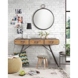 Šedý kovový toaletní stolek LaForma Helia 120 x 38 cm