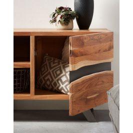 Masivní akátový TV stolek LaForma Irvin 160 x 43 cm
