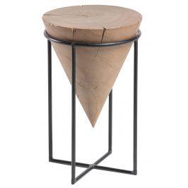 Dřevěný akátový kulatý odkládací stolek LaForma Jayd 31 cm