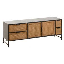 Černý dřevěný TV stolek LaForma Kyoko 150 x 40 cm