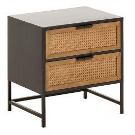 Černý dřevěný noční stolek LaForma Kyoko
