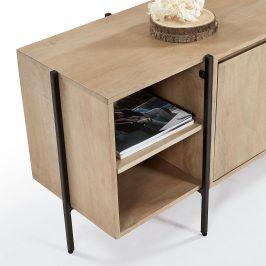 Dřevěný TV stolek LaForma Palmia 160 x 40 cm