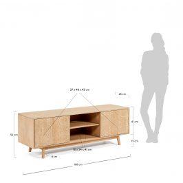 Dřevěný TV stolek LaForma Sakoi 160 x 45 cm