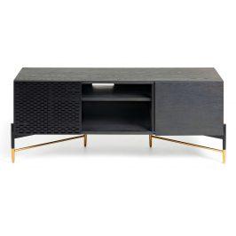 Černý dřevěný TV stolek LaForma Norfort 140 x 56 cm