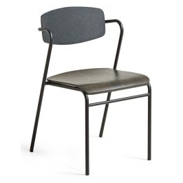 Tmavě šedá dřevěná jídelní židle LaForma Norfort