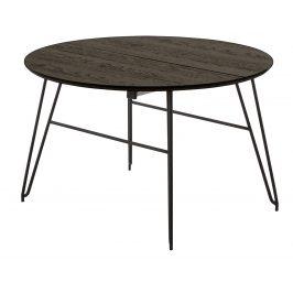 Tmavě hnědý dřevěný rozkládací stůl LaForma Norfort 120-200x120 cm