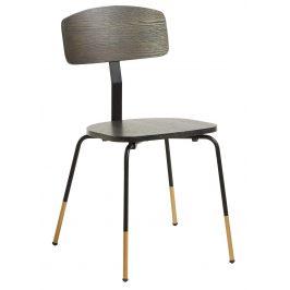 Tmavě hnědá dřevěná jídelní židle LaForma Norfort