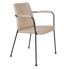 Béžová čalouněná jídelní židle ZUIVER FAB s područkami