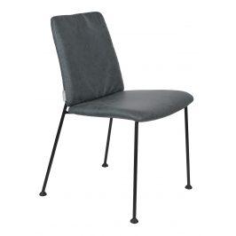 Šedomodrá čalouněná jídelní židle ZUIVER FAB
