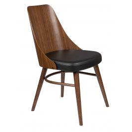 Hnědá dřevěná židle DUTCHBONE Chaya