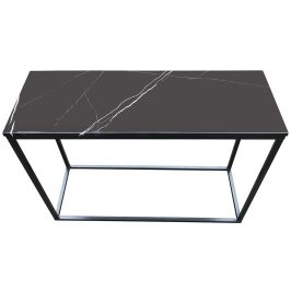 Černý mramorový toaletní stolek RGE Accent s černou podnoží 100 cm
