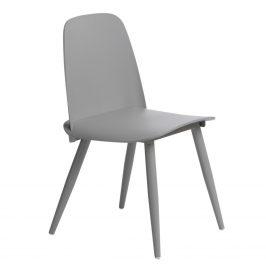 Culty Šedá plastová jídelní židle Toby