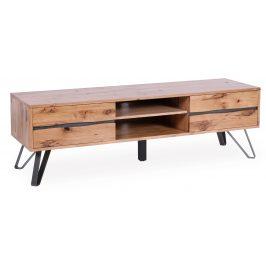 Moebel Living Masivní dubový TV stolek Axel 160 x 40 cm