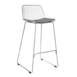 Culty Šedá barová židle Amelia 75 cm