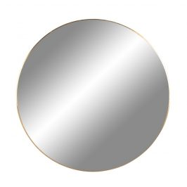 Zlaté kulaté závěsné zrcadlo Nordic Living Vincent 80 cm