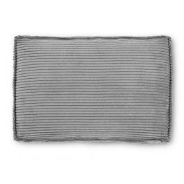 Šedý čalouněný polštář LaForma Blok 50x70 cm