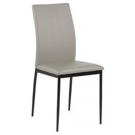 SCANDI Světle šedá čalouněná jídelní židle Presley