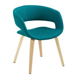 SCANDI Petrolejově zelená čalouněná jídelní židle Garry
