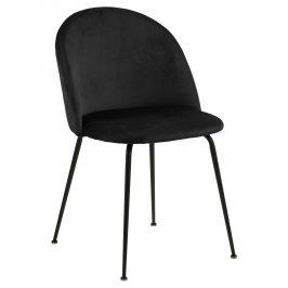 SCANDI Černá čalouněná jídelní židle Harper
