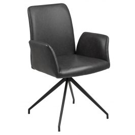 SCANDI Černá otočná čalouněná židle Luisa