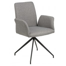 SCANDI Šedá otočná čalouněná židle Luisa