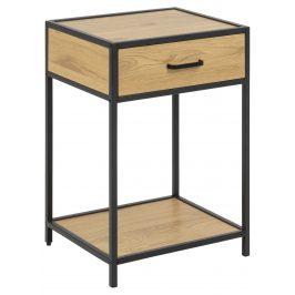 SCANDI Přírodní noční stolek Darila 42 cm se šuplíkem