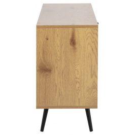 SCANDI Dubový TV stolek Jerry 124 cm