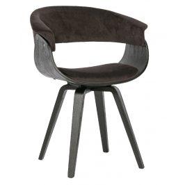 Hoorns Hnědá sametová jídelní židle Molly
