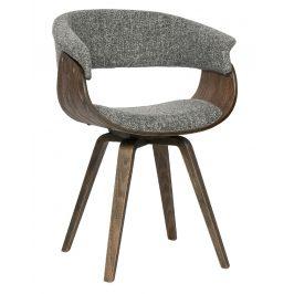 Hoorns Šedá čalouněná jídelní židle Molly
