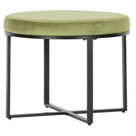 Hoorns Zelený sametový taburet Margo