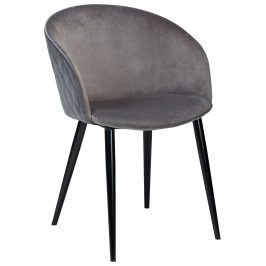 DAN-FORM Šedá sametová židle DanForm Dual