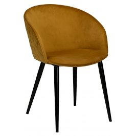 DAN-FORM Okrově žlutá sametová židle DanForm Dual