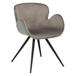DAN-FORM Šedá sametová židle DanForm Gaia Židle do kuchyně