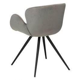 DAN-FORM Šedá sametová židle DanForm Gaia