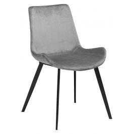DAN-FORM Světle šedá sametová židle DanForm Hype