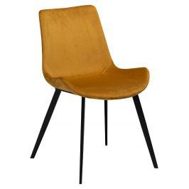DAN-FORM Okrově žlutá sametová židle DanForm Hype