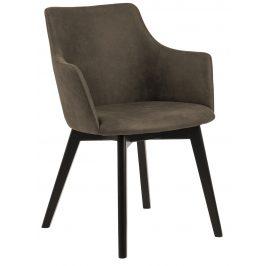 SCANDI Olivově hnědá čalouněná jídelní židle Dara