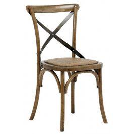 SCANDI Hnědá ratanová jídelní židle Meadow