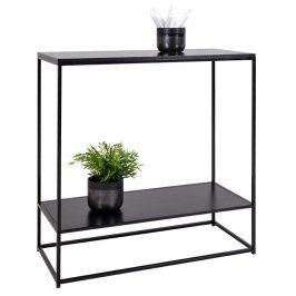 Nordic Living Černý kovový toaletní stolek Winter 80 cm