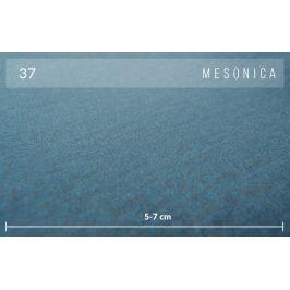 Modrý sametový taburet MESONICA Toro