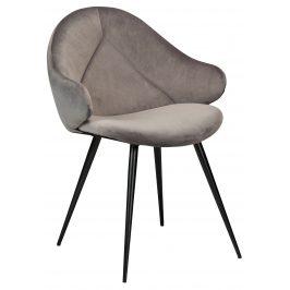 DAN-FORM Šedá sametová jídelní židle DanForm Manta