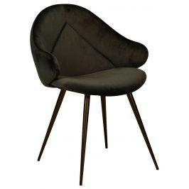 DAN-FORM Černá sametová jídelní židle DanForm Manta