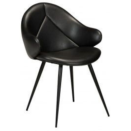 DAN-FORM Černá čalouněná jídelní židle DanForm Manta